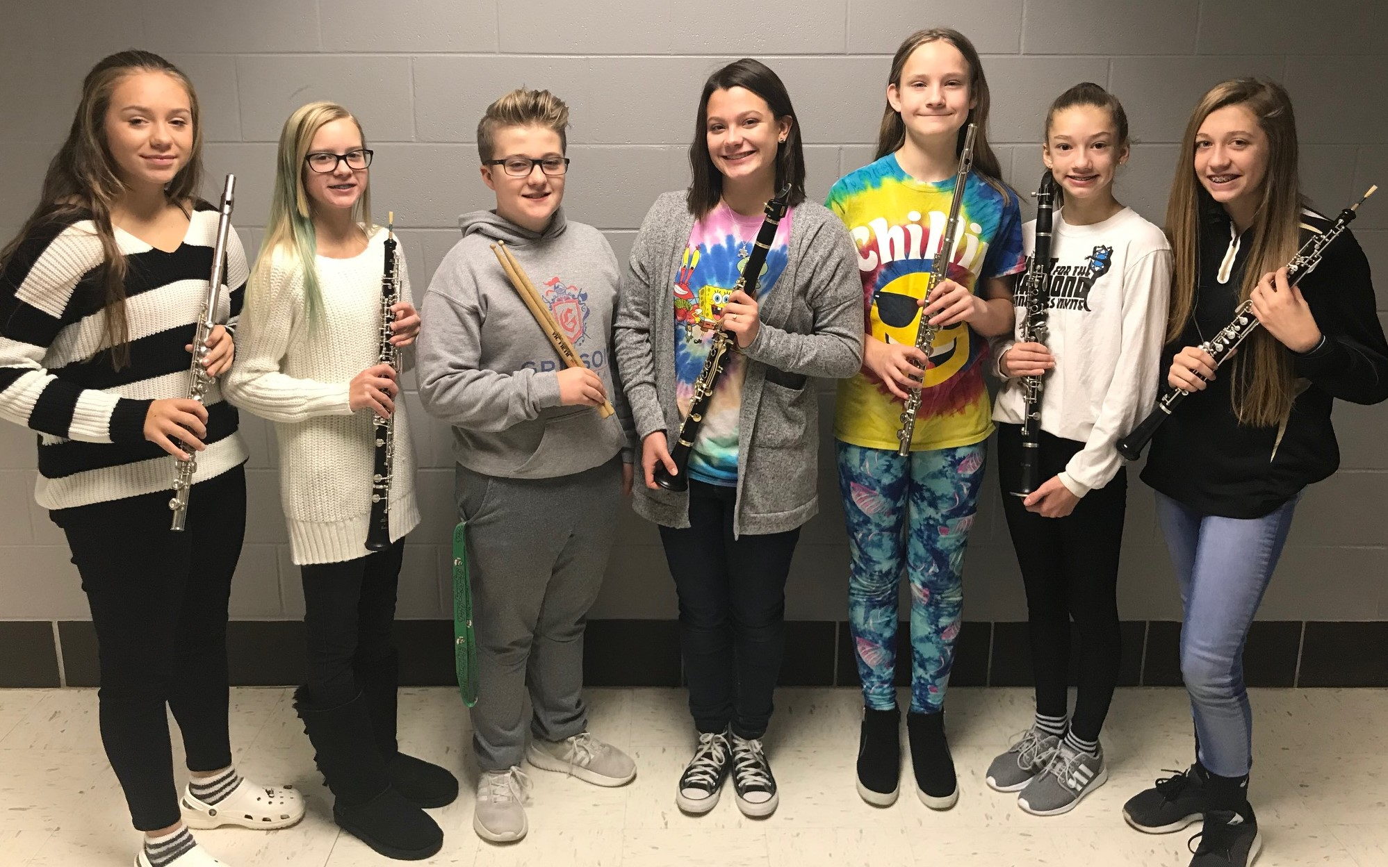 Grissom students named to 2019 Middle School Three Rivers Honor Band