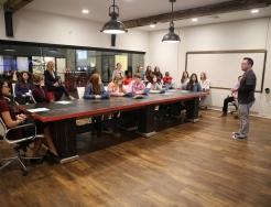 Pathfinders Assoc. Creative Dir. James Jursinic talks with students