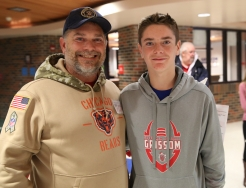 Grissom student with veteran family member