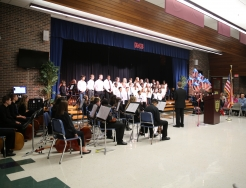 Grissom Orchestra students performing during the Nov. 2018 Veterans Program