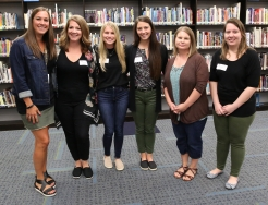 Nancy Block (Counselor), Katie Deitrich (7th grade Social Studies), Alyson Greenwood (6th grade Language Arts), Sara Lutz (6 & 7th grade Math), Stephanie Roy-Stover (7th grade Language Arts), Alaina Williams (Choir), (Not Pictured: Meaghan Donahue, Resource Teacher)